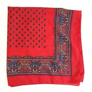 Red bandana. Vintage. Paisley.