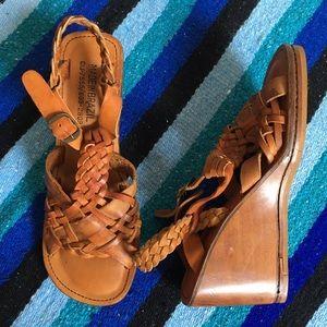 Vintage Brazil Leather Wedge