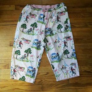 Other - Nick & Nora Capri Pajama PJ Pants  XL French Theme