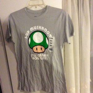 Nintendo Tops - Nwt Nintendo mushroom shirt