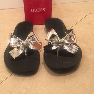 41896538919ab Guess Shoes - Guess bow sandals size 10