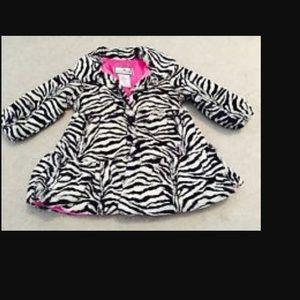 Widgeon 2t zebra print faux fur coat