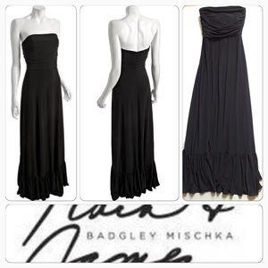 Badgley Mischka Dresses & Skirts - Badgley Michka Black maxi strapless dress gorgeous