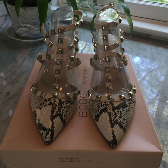 3eb8c2f51 BCBGeneration Shoes | Bcbg Valentino Inspired Studded Heels | Poshmark