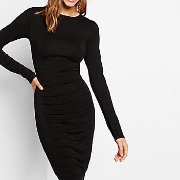 fa9ccdd3bf0 Express Dresses   Skirts - Black Express Long Sleeve Sweater Dress