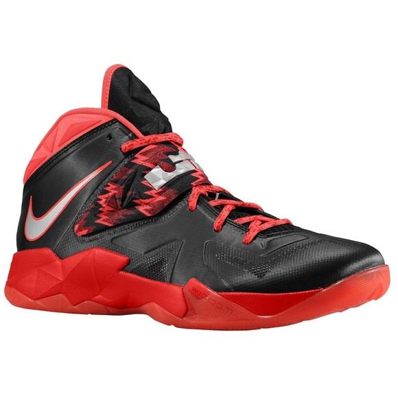 huge discount bce16 59d92 Nike Lebron Soldier VII 7 Black / Red - size 11