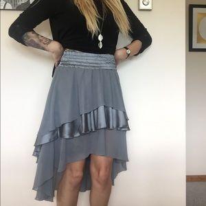 Grey Short to Long ruffled skirt