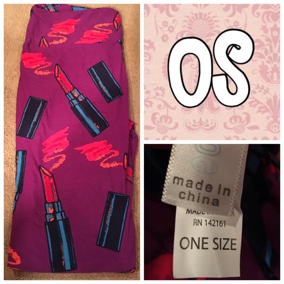 ebe9035e20ed39 LuLaRoe Pants | Lipstick Leggings Os Nwt New Print | Poshmark