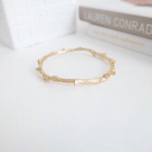 "Filagree Gold ""Branch"" Bangle Bracelet"