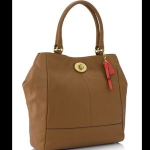 Coach park leather slim tote