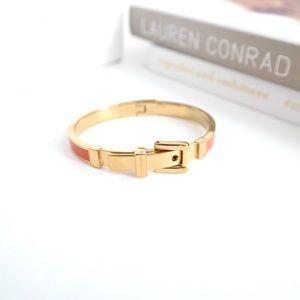 Michael Kors Gold/Orange Buckle Bracelet