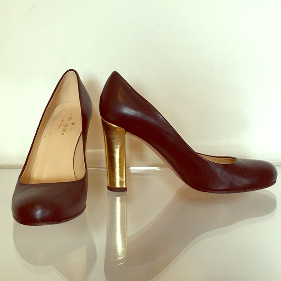 3c6652d34da6 kate spade Shoes - Kate Spade round toe pumps with gold heel