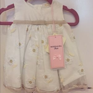 MonnaLisa Other - Monnalisa Bebe dress 3m brand new with tags