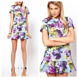 ASOS PETITE Floral Drop Waist Dress