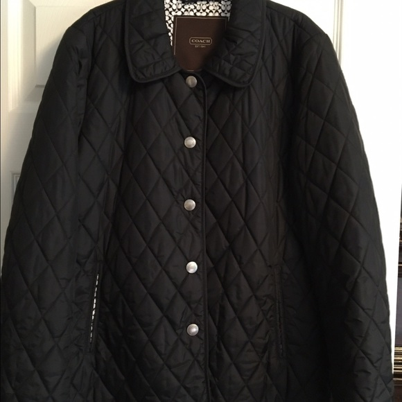 50% off Coach Jackets & Blazers - COACH - ladies black quilted