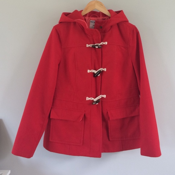 75% off Old Navy Jackets & Blazers - 🍁SALE! Red Toggle Hooded ...