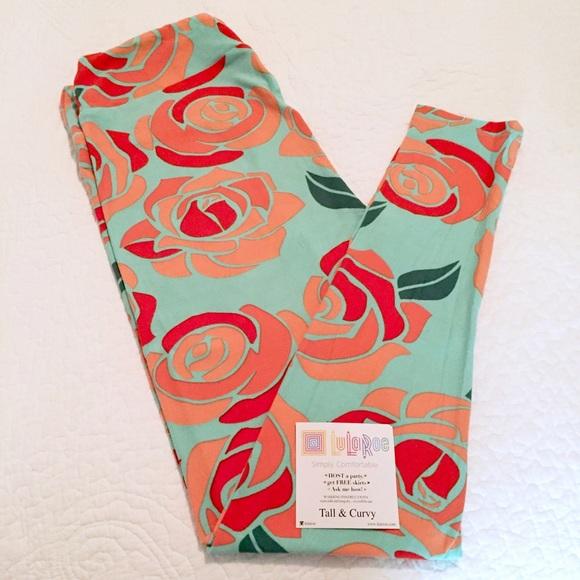 3c56e2becfc50a LuLaRoe Pants | Disney Roses Leggings Tc | Poshmark