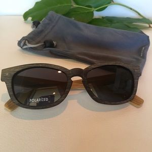Two tone unisex wooden sunglasses