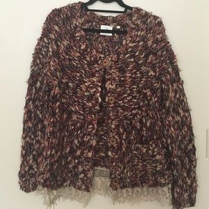 "Anthropologie ""HWR"" nubby sweater"
