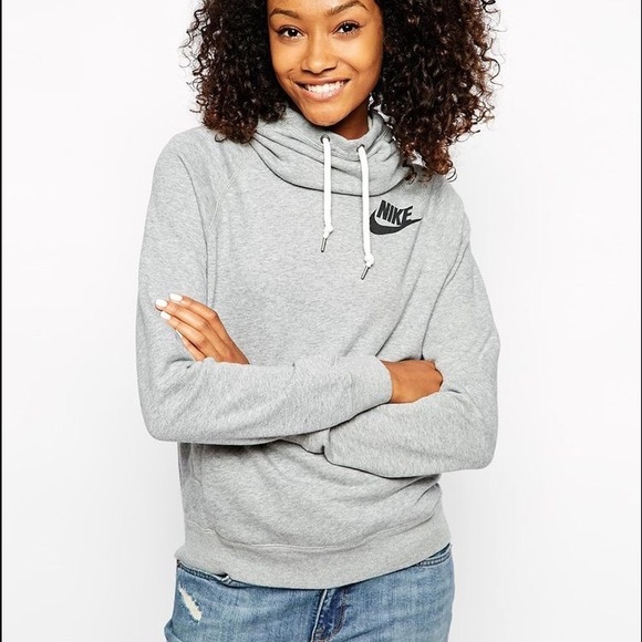 36% off Nike Sweaters - Light gray Nike cowl neck sweatshirt ...