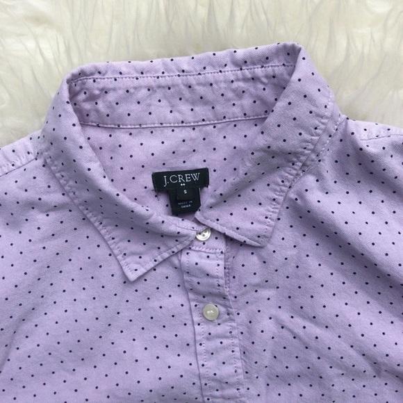 71 off j crew tops j crew lavender polka dot button for Button down polka dot shirt