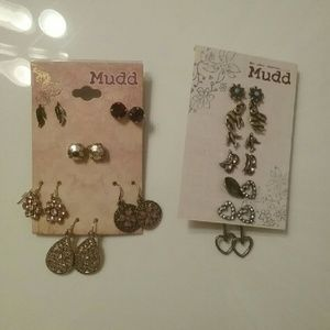 NWT 2 Cards of Mudd Earring Sets 11 Pair in All