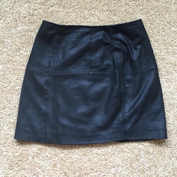 55% off ASOS Dresses & Skirts - ASOS genuine leather mini skirt ...