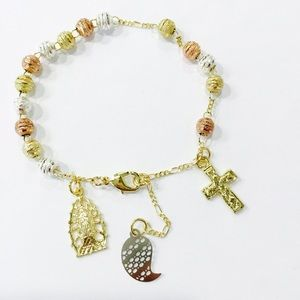 Jewelry - Rosary Bracelet Gold Plated