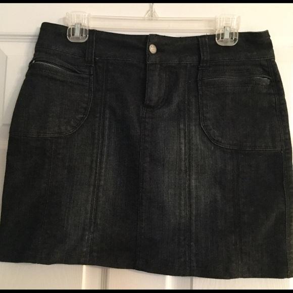 71 cache dresses skirts black denim mini skirt