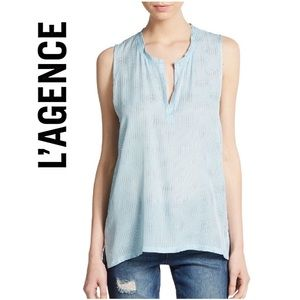 L'AGENCE Tops - L'agence Studded Silk Top