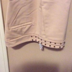 Zara cropped studded pants.