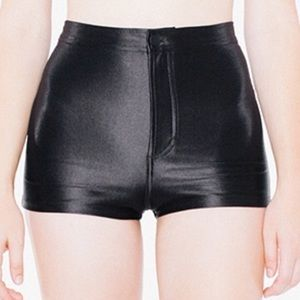 American Apparel Pants - American Apparel The Disco Short - Shiny Black
