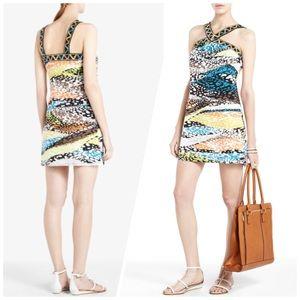 Bcbg multi-color leopard printed dress fe4e6c0db