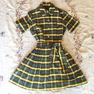 Vintage Plaid Collared Dress, Moving sale ✨