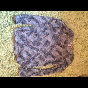 Grey Patterned Sweater - S