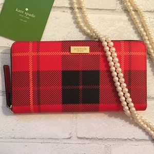 kate spade Handbags - Kate Spade Red & Black Woodland Plaid  Wallet