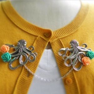 Abbie's Anchor Jewelry - Octopus sweater guard brooch