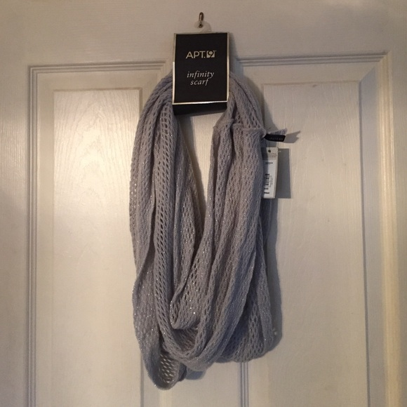 56 apt 9 accessories silver infinity scarf from
