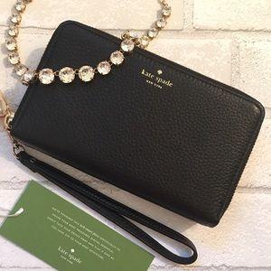 kate spade Handbags - 5⭐️ Kate Spade Black Double Zip Wallet Wristlet