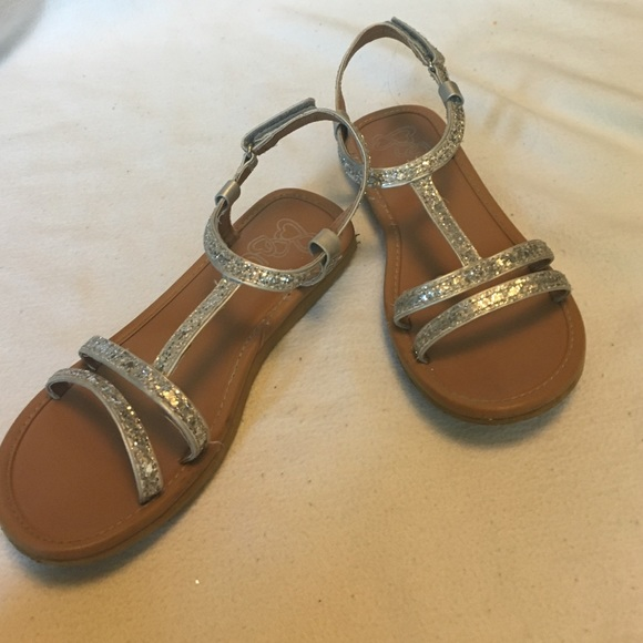 9cc1dbed4f7c Children s Place Other - Girls Glittery gladiator sandals