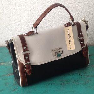 Nicole Lee Handbags - NWT Nicole Lee USA satchel bag black n white