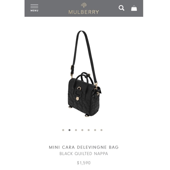 Mulberry Cara Delevingne Quilted Nappa. M 57c7666fea3f36504d001c49 b1e02f5ee7