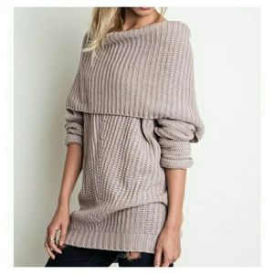Boutique  Sweaters - PLUS SIZES! Light Muave Knit Oversized Sweater