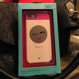 Kate Spade Phone Credit Card Case With Mirror