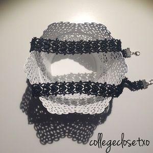 FLASH SALE ❤ Fabric Heart Choker Necklace