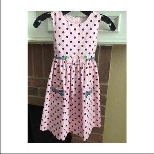 Florence Eiseman Other - Florence Eisman Girls 6 Pink Blue Polka Dot Dress