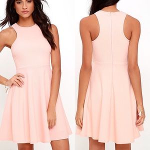 Lulu's - LuLu's Royal Purple Cross Peep Hole Skater Dress from ...