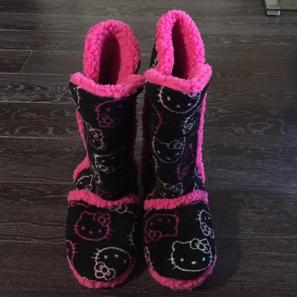 087412dc8 Hello Kitty Shoes - Hello kitty pajama slipper boots