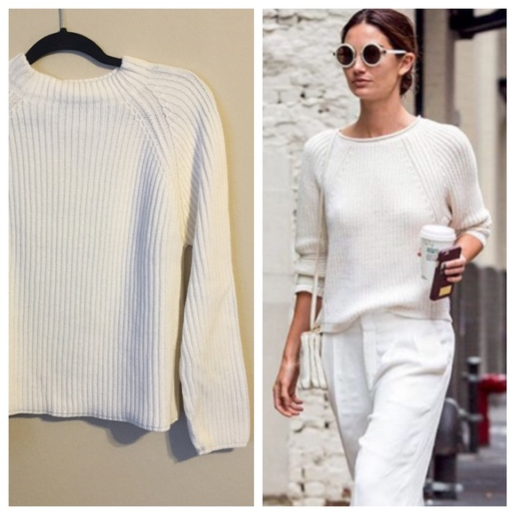 79% off Brandy Melville Sweaters - Vintage white mock turtle neck ...