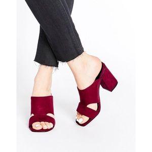 ASOS Suede Heeled Sandals